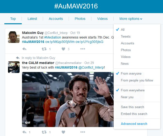 How to use the #AuMAW2016 hashtag